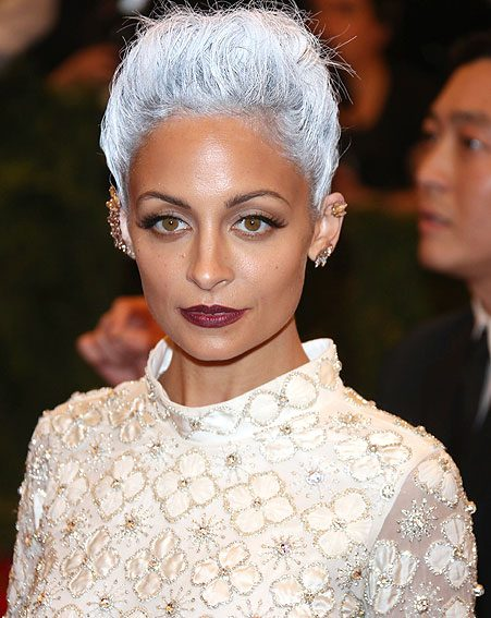 Nicole Richie went almost silver when she was experimenting