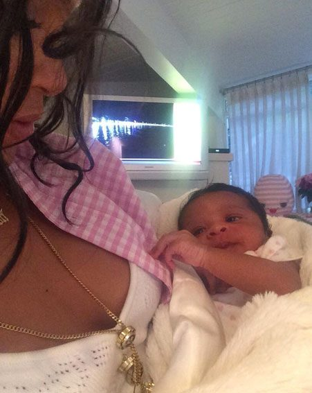 Rihanna looked to be in maternal bliss as she cared for the tot