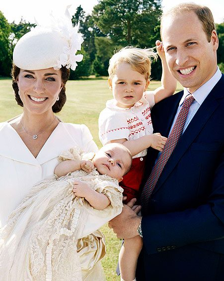Princess Charlotte and Prince George looked adorable in their family portrait from the weekend