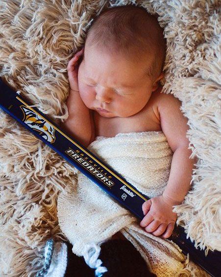 Carrie Shares First Newborn Snap