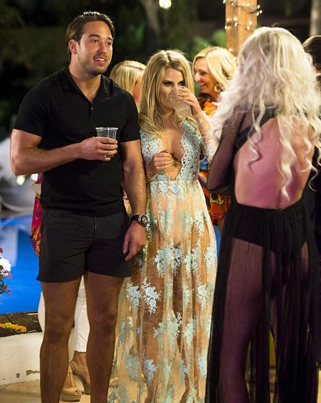 James Lock was also at the pool party during Danielle's heated argument