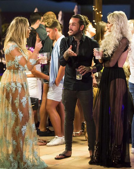 Chloe Sims looked on during Pete and Danielle's argument