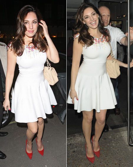 Kelly brook white dress celebrity juice