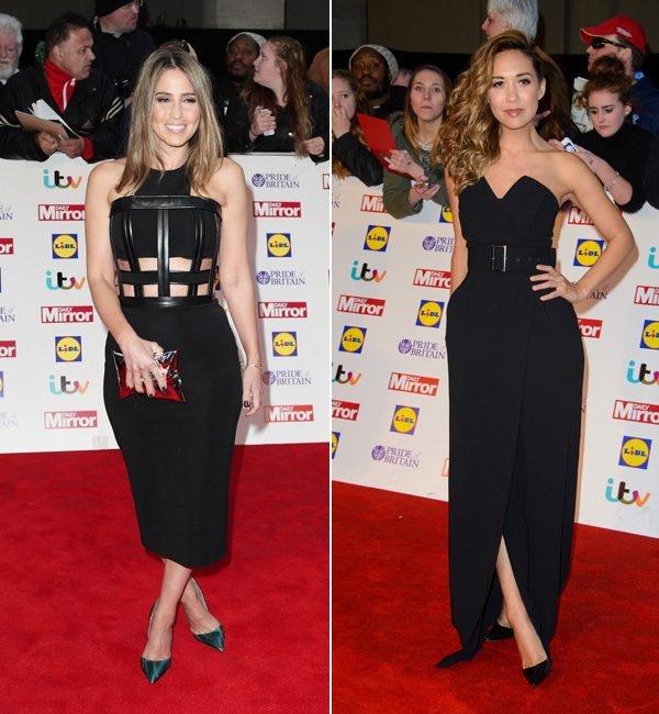 Rachel Stevens and Myleene Klass looked classic in black dresses