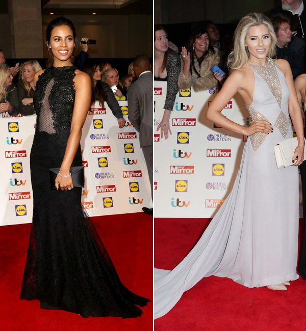 The Saturdays stars Rochelle Humes and Mollie King both dazzled in their floor-length frocks