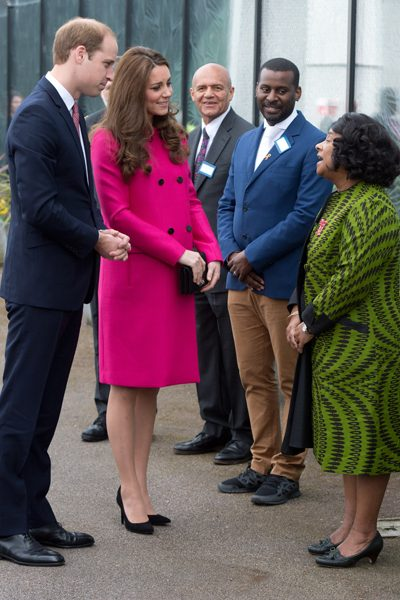 Prince William and his wife looked humbled as they chatted with Doreen Lawrence