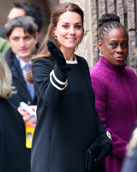 The Duchess of Cambridge look her usual stylish self