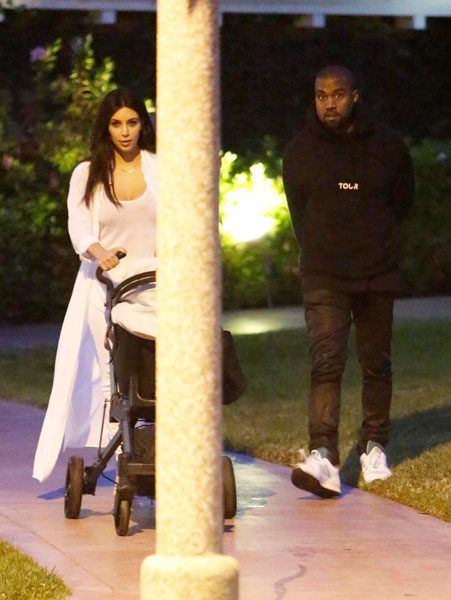 Kimye celebrated their reunion by going for a romantic stroll in the  LA suburb of Calabasas