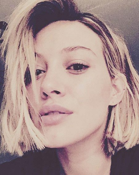 Hilary Duff admitted she had gone pretty short in her Instagram post