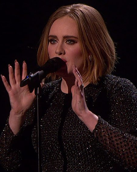 Adele first debuted her new bob during The X Factor 2015 final