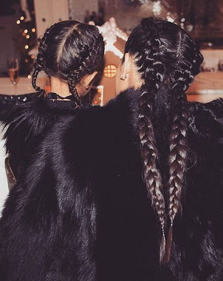 Even North West has got in on the braiding action