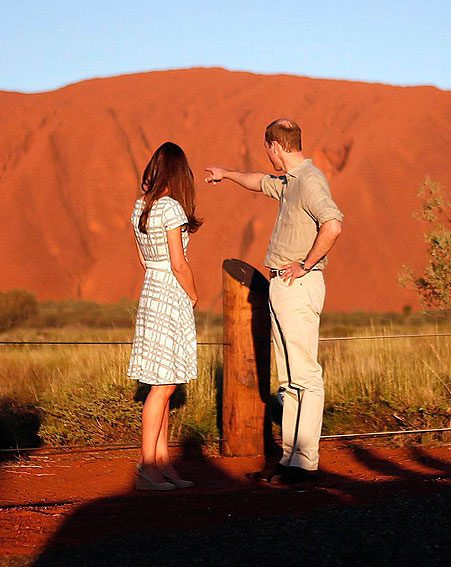 The royal couple enjoyed the view at the end of day 15 of the Australian tour