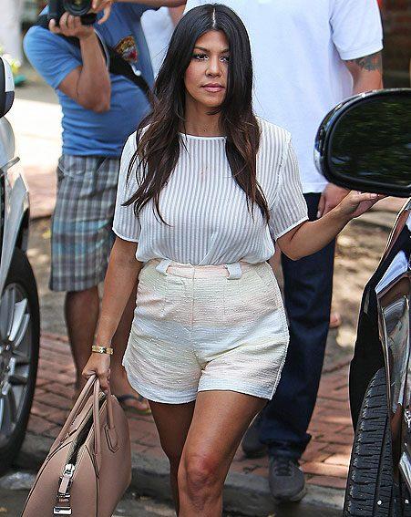 Pregnant Kourtney Kardashian stays on top of her maternity ...