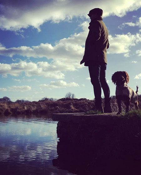 David Beckham stands proud with Olive