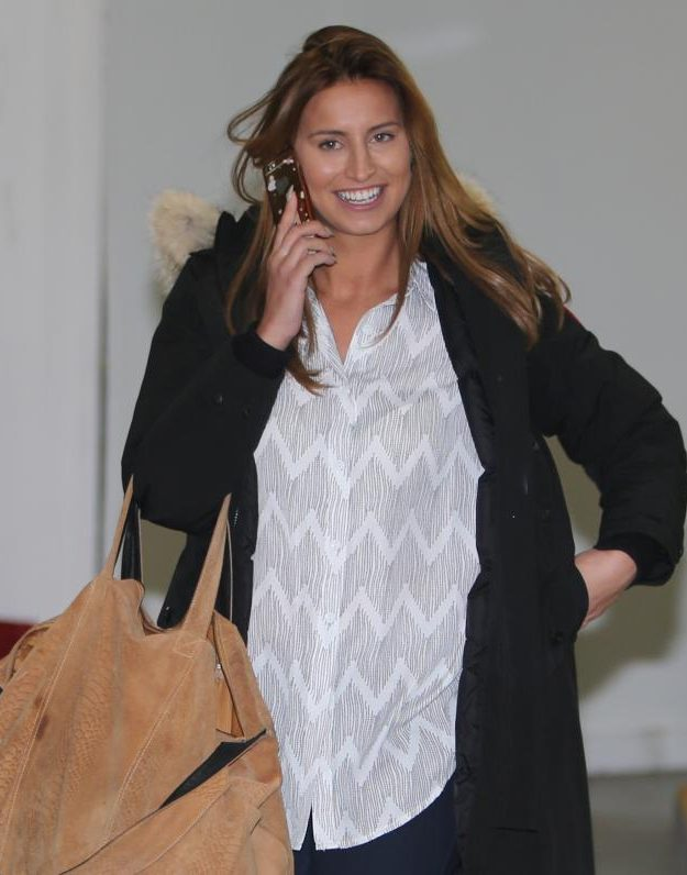 Ferne McCann at the ITV studios