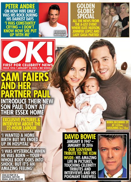 Sam Faiers and Paul Knightley introduce their newborn, Paul Tony Knightley, read the rest of their interview in this week's OK! magazine