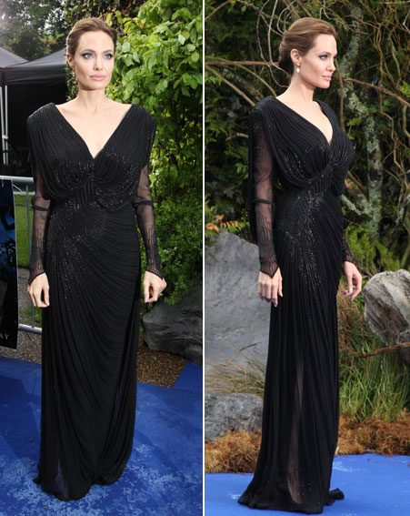 Angelina Jolie looked stunning in a black gown