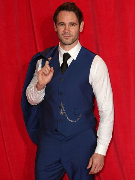 The Hollyoaks actor has revealed that he wasn't able to go into the theatre with Sarah