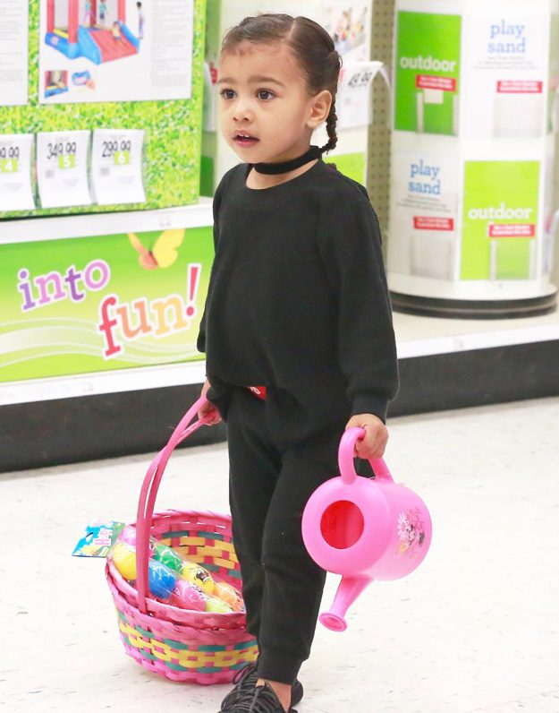 North West was full of excitement while choosing her toys