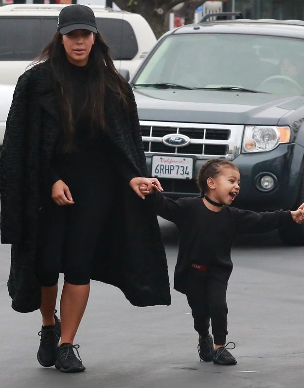 Kim Kardashian and North West wore matching outfits for their outing