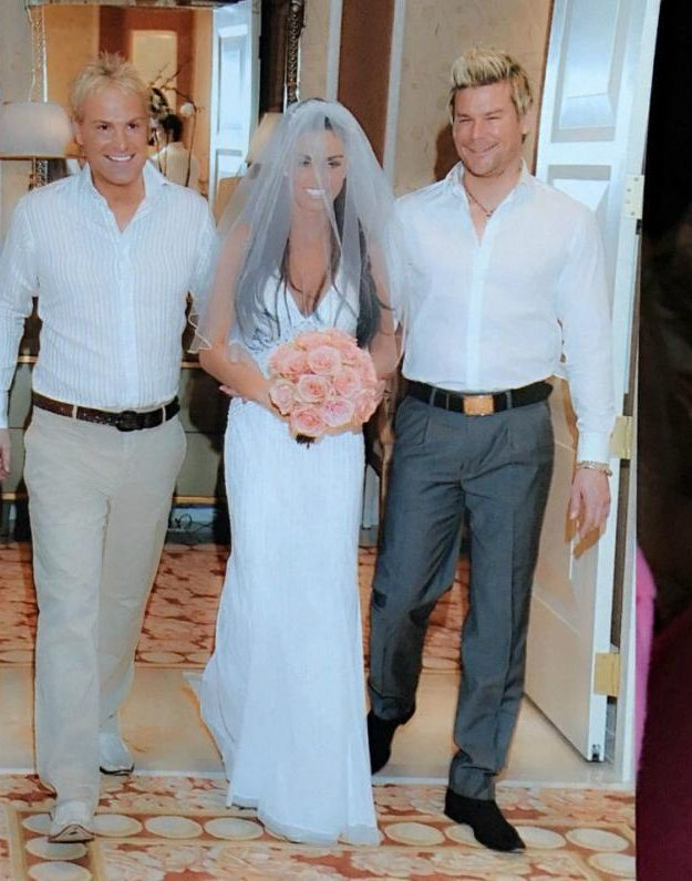 Katie Price wore the dress for her wedding to Alex Reid {Katie Price/eBay]