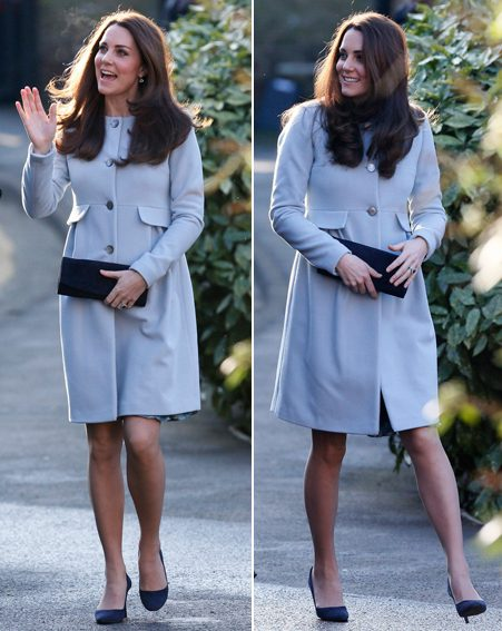 The Duchess of Cambridge proved once again why she's the queen of pregnancy dressing