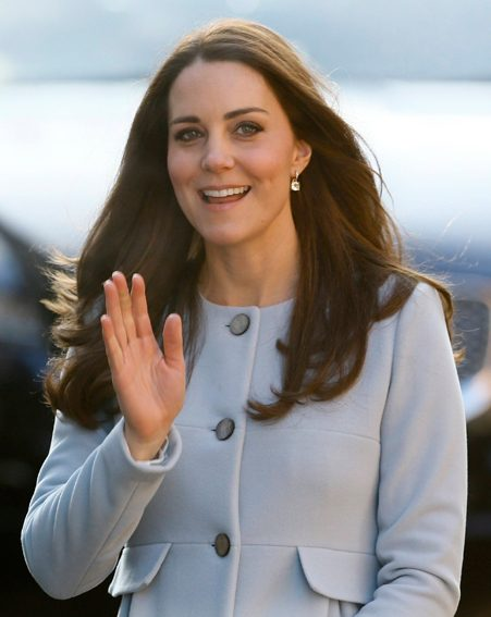 Kate Middleton was in high spirits as she stepped out on the chilly London morning