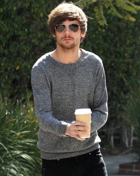 Louis Tomlinson stepped out for a much needed coffee following the birth of his first son