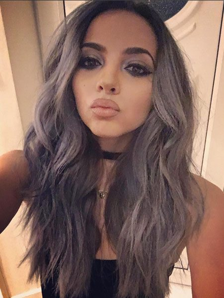 Jade Thirlwall shows off her new grey hairdo