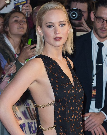 Jennifer Lawrence also did her version of the 'do at The Hunger Games premiere