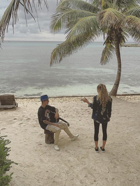Justin Bieber sang to Hailey Baldwin on a deserted beach