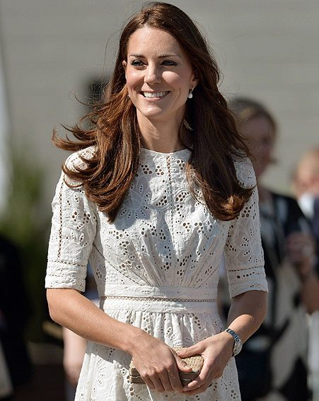 The Duchess of Cambridge opted for an Australian designed dress by celeb favourite Zimmerman