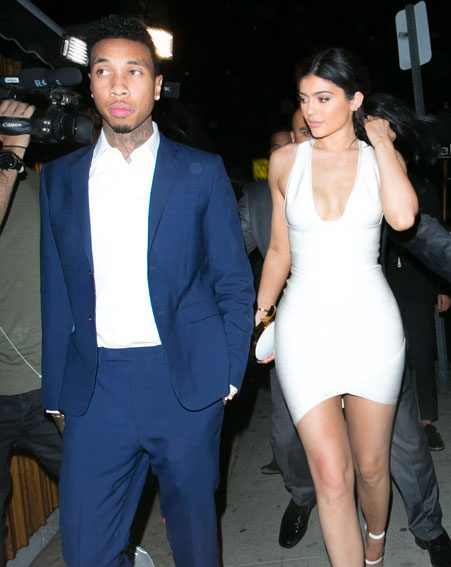 Tyga and Kylie Jenner attend Justin Bieber's AMAs afterparty together despite rumours that they had split