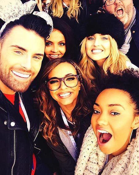 Rylan Clark also joined in with the Little Mix fun