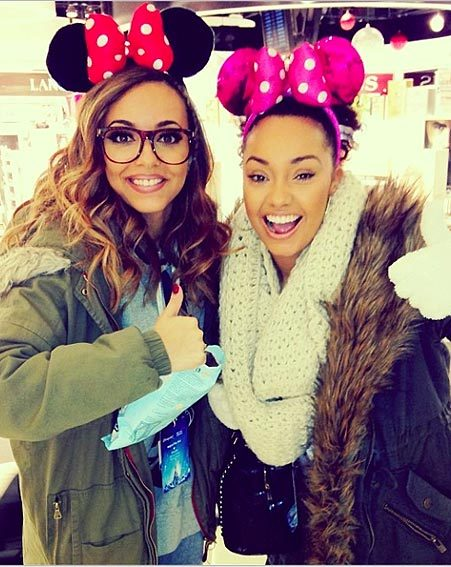 Jade Thirlwall and Leigh Anne Pinnock posed for the obligatory ears snap
