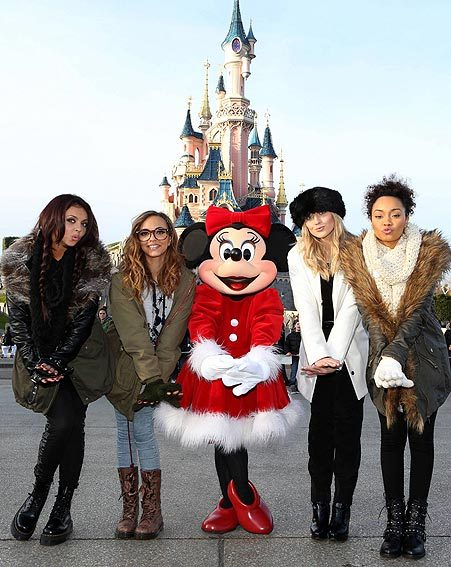 Little Mix couldn't resist a photo opportunity with Minnie Mouse herself