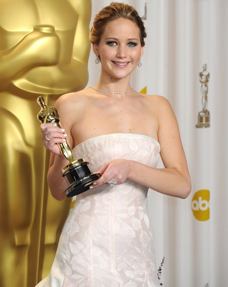 Jennifer Lawrence won big at the Oscars 2013