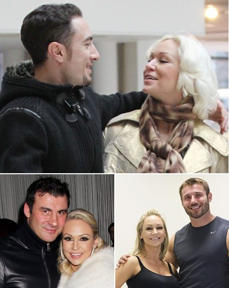 Kristina Rihanoff with partners Vincent Simone ,Joe Calzaghe and Ben Cohen