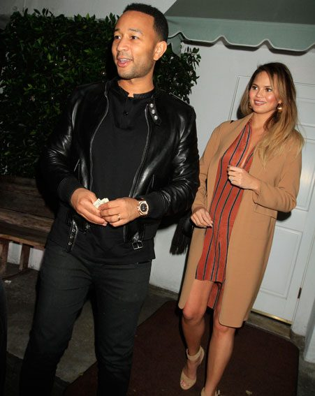 John Legend joined his wife for the dinner date with Kim Kardashian