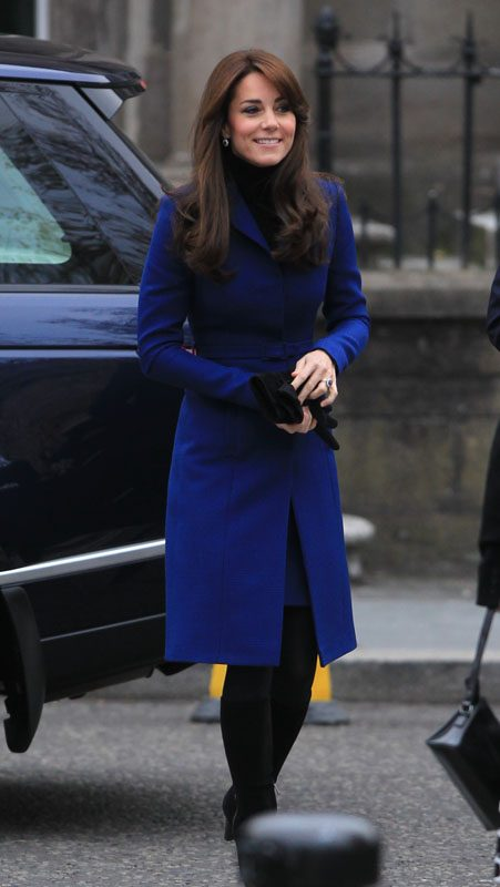 Kate Middleton stuns in royal blue for day of engagements