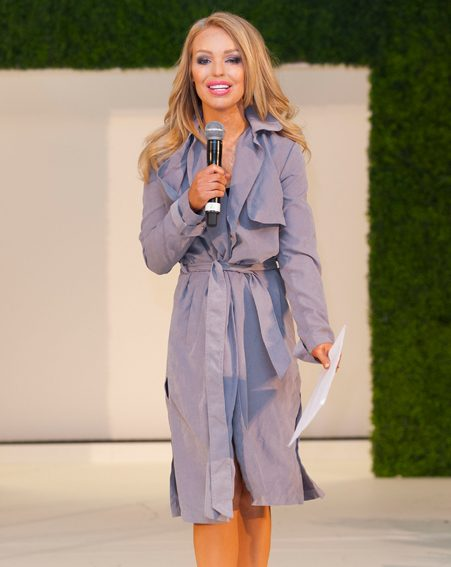 Katie Piper was the picture of health as she made her first appearance since a recent stint in hospital