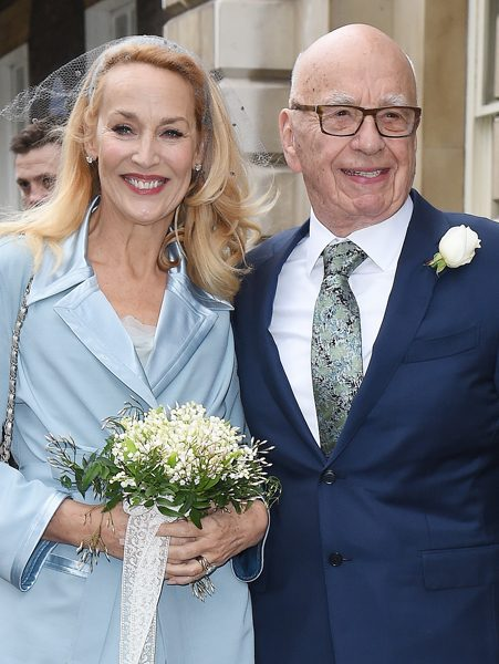 Rupert Murdoch and Jerry Hall announced their engagement in January