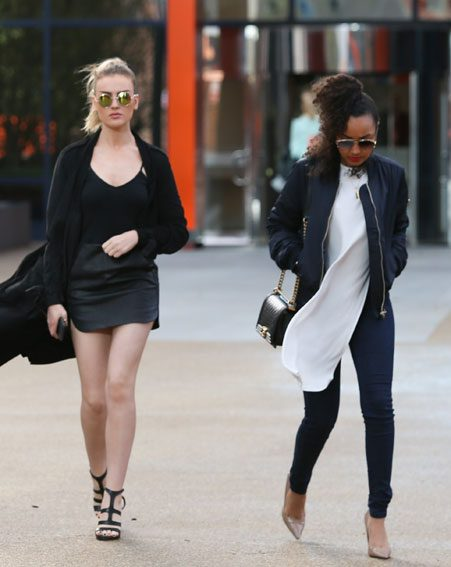Leigh-Anne Pinnock was dressed far more appropriately for the weather