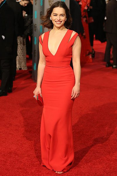 The Game Of Thrones actress looked gorgeous as always in this vibrant red frock