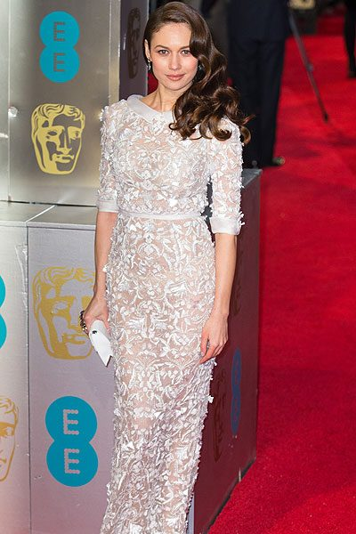 Olga Kurylenko wowed everyone in this white lace number