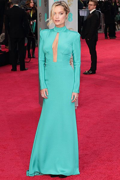 Laura Whitmore certainly made a mark in her floor length gown for the BAFTAs