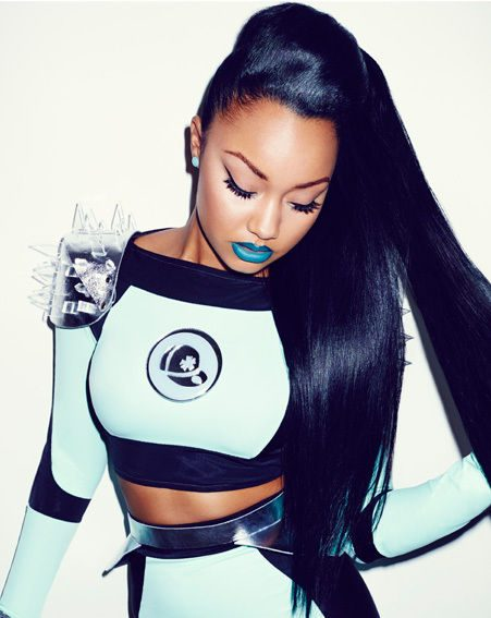 Leigh-Anne Pinnock channels serious sass with her bright lippy and LIVE Color XXL Cosmic Blue