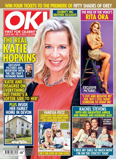 The family's adorable shoot appears in this week's OK! Magazine which is out now