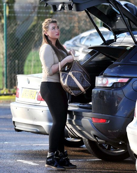 Lauren Goodger upped the glam with her Louis Vuitton gym bag