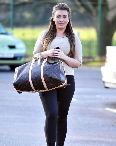 Lauren Goodger looked glamorous for her gym session